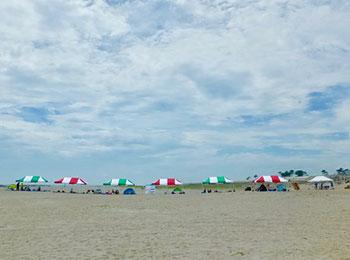 仙台の4日間だけの海水浴場。